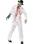 Zombie Mafia Gangster Halloween-Kostüm weiss-schwarz