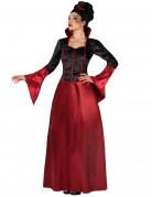 Vampirdame Halloweenkostüm schwarz-rot