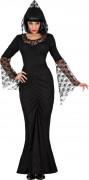 Gothic Hexe Halloween-Damenkostüm schwarz
