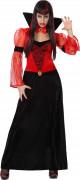 Bluthungrige Vampirin Halloween-Damenkostüm rot-schwarz