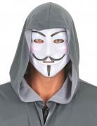 Anonymus-Gesichtsmaske weiß-schwarz