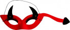 Teufel Augenmaske Kostüm-Accessoire rot-schwarz