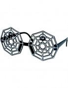 HalloweenErwachsene Spinnweben-Brille schwarz-weiss