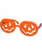 Halloween Kürbis-Brille in Orange für Erwachsene orange