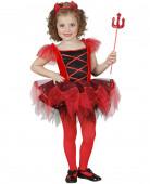 Halloween Teufelin-Mädchenkostüm mit Tutu rot-schwarz