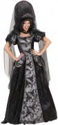 Dunkle Königin Gothic Damenkostüm schwarz-silber