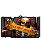 Horror-Clown Schild Do Not Enter Halloween-Party Deko bunt 44x25cm