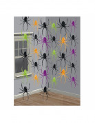 Bunte Horror-Spinnen Halloween-Hängedeko bunt 30x17x0,5cm