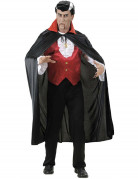 Vampir-Umhang Cape schwarz-rot