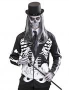 Halloween Skelett-Jacke schwarz-weiss