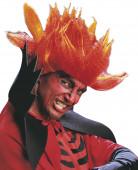 Irrer Teufel Herren-Perücke rot-orange