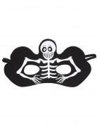 Skelett Halbmaske schwarz für Erwachsene Halloween schwarz-weiss