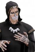 Totenschädel Horror-Halskette weiss-schwarz