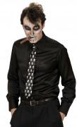 Totenkopf Krawatte schwarz-weiss