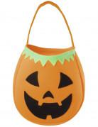 Halloween Kürbis-Tasche für Kinder orange-schwarz-grün