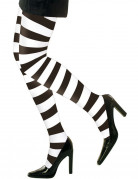 Strumpfhose Streifen schwarz-weiss