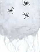 Halloween Spinnennetz mit Spinnen weiss-schwarz 50 g