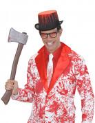 Krawatte blutbespritzt für Erwachsene weiss-rot
