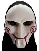 Horror Maske mit Kapuze für Erwachsene weiss-rot-schwarz