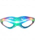 Leuchtende Halloween-Brille Spinnennetz bunt