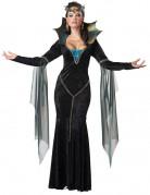 Dunkle Magierin Hexe Zauberin Halloween Damenkostüm schwarz-blau