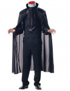 Kopfloser Reiter Kostüm Halloween-Herrenkostüm schwarz-weiss-rot