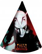 Partyhüte Star Wars Rebels™ Party-Deko 6 Stück bunt