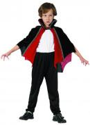 Vampir Umhang für Kinder Kostümzubehör rot-schwarz