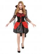 Blutsaugende Vampir-Mätresse Halloween-Damenkostüm schwarz-rot