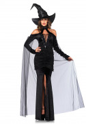 Hexen-Kostüm sexy für Damen schwarz