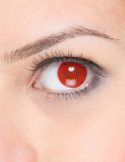 Gittermuster-Kontaktlinsen rot