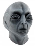 Außerirdischen-Maske Alien-Maske handbemalt grau-schwarz
