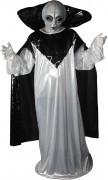 Alien Halloweenkostüm mit Maske Ausserirdischer weiss-grau-schwarz