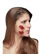 Platzwunden Halloween-Latexapplikationen 3 Stück haut-rot