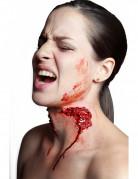 Fleischwunde Biss Latex-Applikation rot