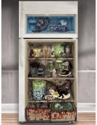 Horror-Kühlschrank-Folie Halloween-Party-Deko bunt 85x165cm