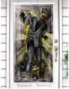 Blutrünstiges Zombie Tür-Poster bunt 165x85cm