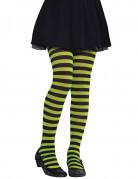 Grün-schwarze Strumpfhose für Kinder