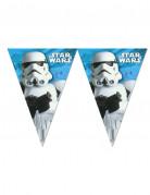 Stormtrooper™-Girlande Star Wars™ Raum-Deko weiss-blau 2,30m