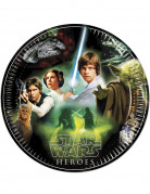 Star Wars™ Helden-Pappteller 8 Stück schwarz-bunt 23cm
