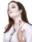 Vampirbiss-Wundmal Halloween Kostümzubehör 6-teilig rot-grau-schwarz