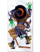 Hexen-Türposter Halloween bunt 76x152cm
