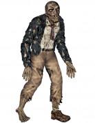 Zombie-Pappfigur als Halloweenaufsteller bunt 180cm