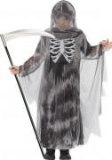 Sensenmann Tod-Kinderkostüm grau-schwarz-weiss
