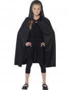 Schwarzer Umhang für Kinder schwarz 76 cm