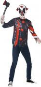 Blutiger Horror-Clown Halloween Teen-Kostüm bunt
