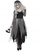 Horror-Braut Geisterbraut-Damenkostüm grau-schwarz