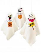 Gespenster-Ballons Kinderhalloween-Deko 3 Stück weiss-bunt