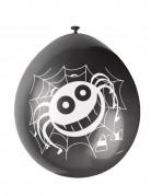 Spinnen-Luftballons Kinderhalloween-Deko 10 Stück schwarz-weiss