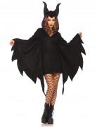 Fledermaus-Umhang Halloween-Damenkostüm schwarz-lila